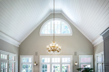 Open Concept Living Room Den W...