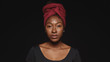 Portrait of an african woman in a headwrap