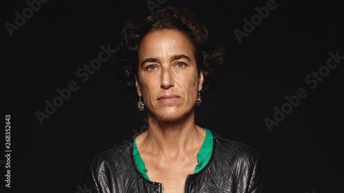 Fotografiet  Portrait of a woman in jacket