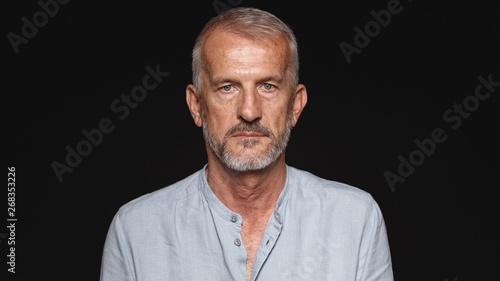 Stampa su Tela  Portrait of a senior caucasian man