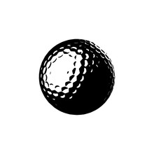 Golf Ball Icon. Vector Illustration