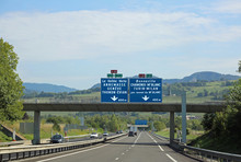 Traffic Sign On The Highway In France