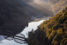Scenic View Of Hawks Nest State Park