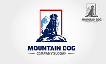 Mountain Dog Logo Template Professional, Stylish And Modern. This Logo Used For Any Pets Related Businesses, Pets Shop, Pets Training Center