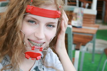 Smiling Girl With Orthodontic ...