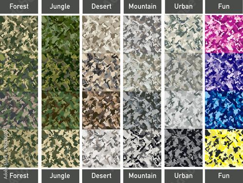 Fotografía  Digital Camouflage set