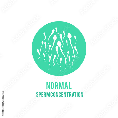 Valokuva Vector normal sperm male fertility concept icon