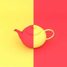 Classic Yellow And Red  Teapot