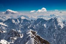 Die Alpen Mit Ansicht Von Der Zugspitze