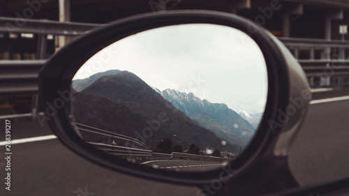 Photo  Mirror Val Di Mello, Italy