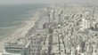 Tel Aviv skyline aerial drone view 4k 10bit ungraded/flat raw