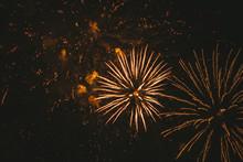 Close-up Gold Festive Firework...