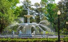 The Famous Fountain In Forsyth Park In Savannah Georgia