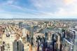 Manhattan aerial View with its bridges, Brooklyn Bridge and Manhattan Bridge
