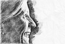 Drawing Of A Beautiful Woman