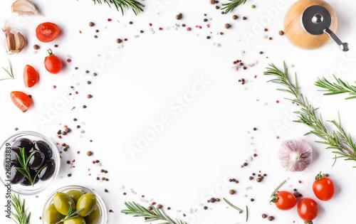 Cuadros en Lienzo  Food background concept, recipe mockup