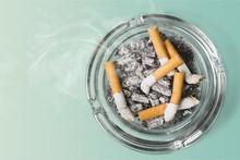 Ashtray And Smoked Cigarettes ...