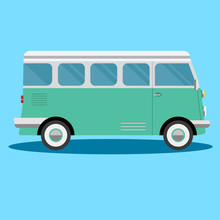 Car Side View - Van - Illustration