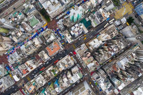 Foto op Plexiglas Barcelona Top view of Hong Kong city