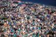 Auf diesem einzigartigen Foto können Sie die Hauptstadt der Malediven von oben sehen. Sie können sehr gut sehen, wie eine Stadt auf kleinstem Raum aussieht