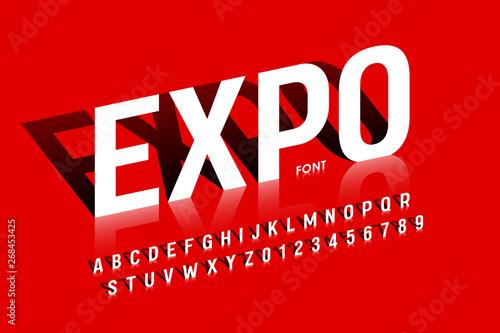 Fotografia Modern exhibition style font desugn, alphabet letters
