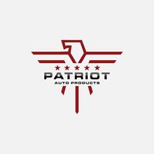 Minimalist Lineart Of Patrioti...