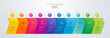 Timeline infographics design vector and business icons with 10 options.