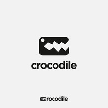Simple Abstract Letter C For Crocodile Logo Icon Vector Template On White Background
