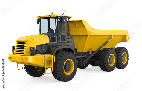 Articulated Dump Truck Isolated Canvas Print