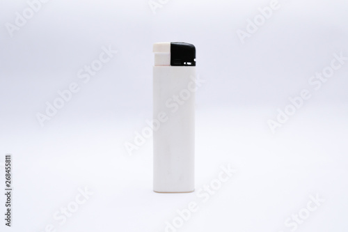 Fotografía White lighter isolated on a white background