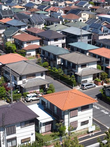 Poster Nouvelle Zélande 東京近郊の住宅街