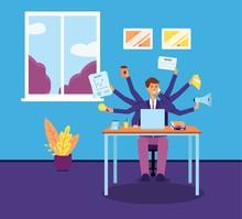Multitasking Business Man Or M...