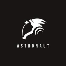 Minimalist Astronaut Star Logo...