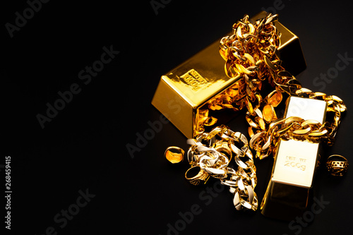 Fotografie, Obraz  Jewelry buyer, pawn shop and buy and sell precious metals concept theme with a p