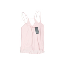 Pink Tank Top With Tag. Fashionable Concept. Isolate. White Background