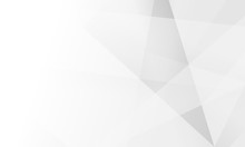 White Light & Grey Background. Space Design Concept. Decorative Web Layout Or Poster, Banner.