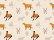 Livestock Farm Animals Seamless Wallpaper 6