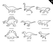 Dinosaur Coloring Book Cartoon...