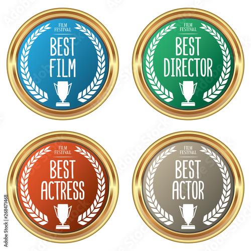 Fotografie, Obraz  Set of Film Festival Awards
