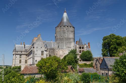 View to the medieval castle of Chateaudun town, France Tapéta, Fotótapéta