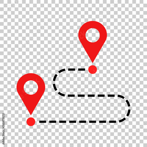 Fotomural  Move location icon in transparent style