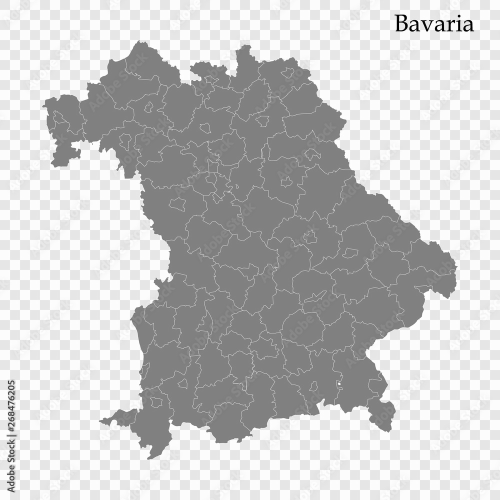 Fototapety, obrazy: High Quality map is a state of Germany