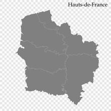 High Quality Map Region Of France