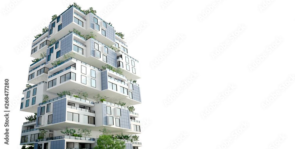 Fototapeta Sustainable block building