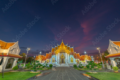 The Wat Benchamabophit or Marble temple is one of Bangkok is significant Wallpaper Mural