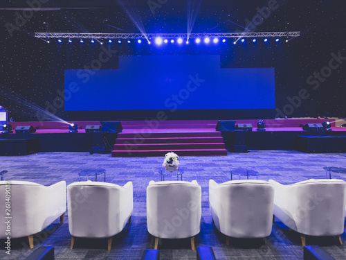 Valokuva  Empty chairs for audience in the conference hall or seminar meeting, business an