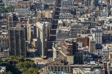 NEW YORK CITY, NY - AUGUST 09, 2014: The Iconic Flatiron Building In New York City.