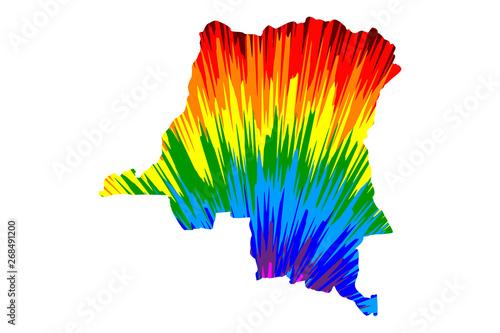 Congo - map is designed rainbow abstract colorful pattern ... on abidjan map, brazzaville map, dar es salaam, mogadishu map, timbuktu map, kigali map, cape town, africa map, nairobi map, cape town map, praia map, cairo map, yaounde map, congo river, freetown map, luanda map, leopoldville map, kuala lumpur map, maputo map, malabo map, congo map, addis ababa, kampala map, lagos map,