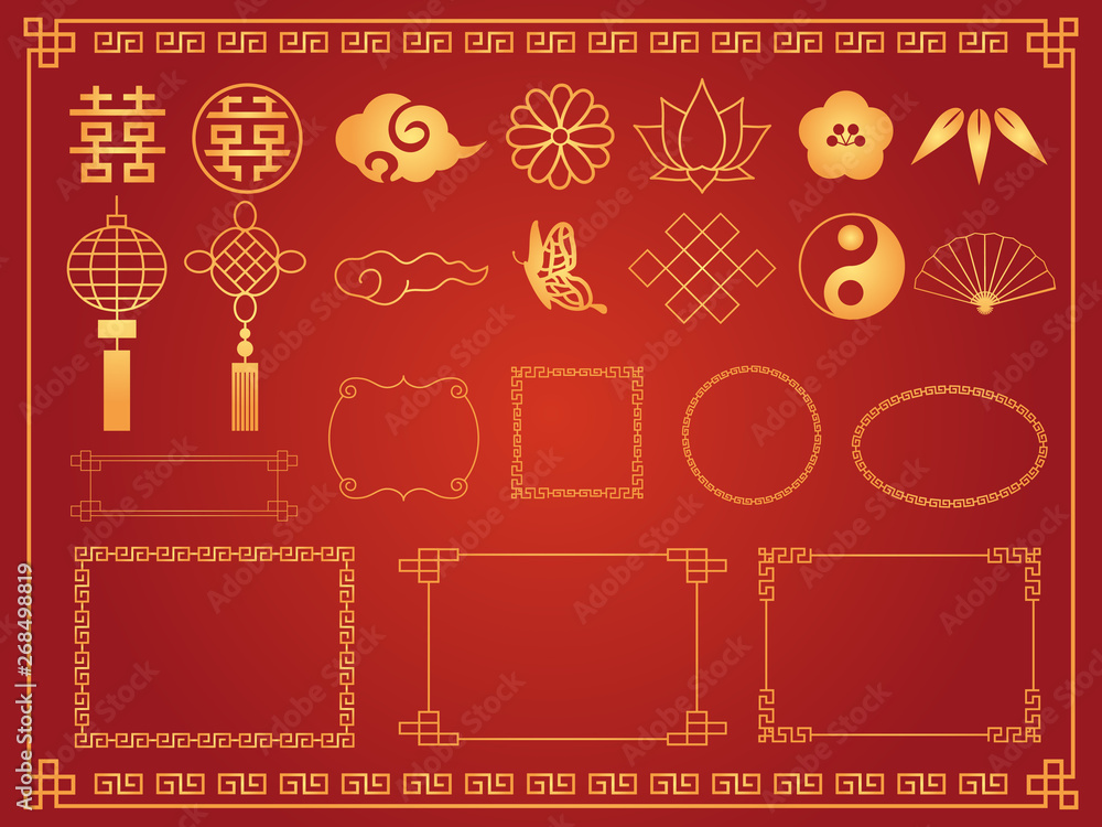 Fototapeta 中華模様 素材集2