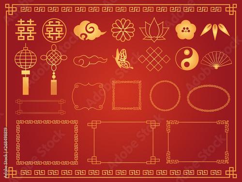 中華模様 素材集2 Canvas Print